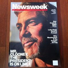 Newsweek redesign prototype with @TinaBrownLM from 2010 with nixed logo and portrait of George Clooney in Sudan by @lynseyaddario #thelogothatgotawayfromme @newsweek @lballant