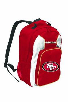 NFL San Francisco 49ers Southpaw Backpack, Red, Medium by Concept 1. $22.99. The SouthPaw is a great backpack to show off your favorite team, allowing you to carry all your necessary gear to different places like school, the office, the gym, etc.
