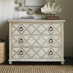 Oyster Bay 3-Drawer Brookhaven Hall Chest in Oyster | Nebraska Furniture Mart
