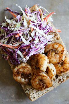 Slimmed Down Shrimp Po' Boy Servings: 3 • Size: 1 sandwich • Weight Watcher Points+: 7 pt