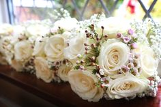 Bridesmaids bouquets. Created by Christine Carter