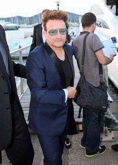Bono et Alison à St Tropez 20/07/2016