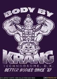 Body by Krang by BiggStankDogg is available on t-shirts, hoodies, tank tops, and more until 3/7 at OnceUponaTee.net starting at $12! #TMNT #Movies #Fashion
