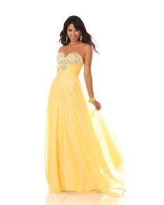 Stand out and shine in this fabulous yellow prom dress by Mystique Grad Dresses Short, Deb Dresses, Best Prom Dresses, Modest Wedding Dresses, Pageant Dresses, Homecoming Dresses, Strapless Dress Formal, Nice Dresses, Amazing Dresses