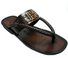 Zaffaella Shoes - Rocco Brown Italian Mens Casual Leather Sandals, £75.00