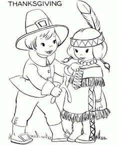 Thanksgiving Coloring Pages: Native American Indian Coloring Pages
