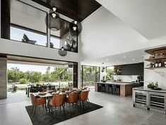 A distinctly modern home with natural luxury Metricon Senior Interior Designer, Melissa Colley, has used a perfect fusion of textures and materials to create a subtle interior design palette with. Large Floor Plans, Interior Decorating, Interior Design, Display Homes, Indoor Outdoor Living, New Home Designs, House Prices, Unique Home Decor, Modern House Design