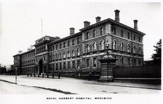 The old Royal Herbert Hospital on Shooters Hill Road. Now Closed and turned into flats. Picture from a postcard from the 1920's.
