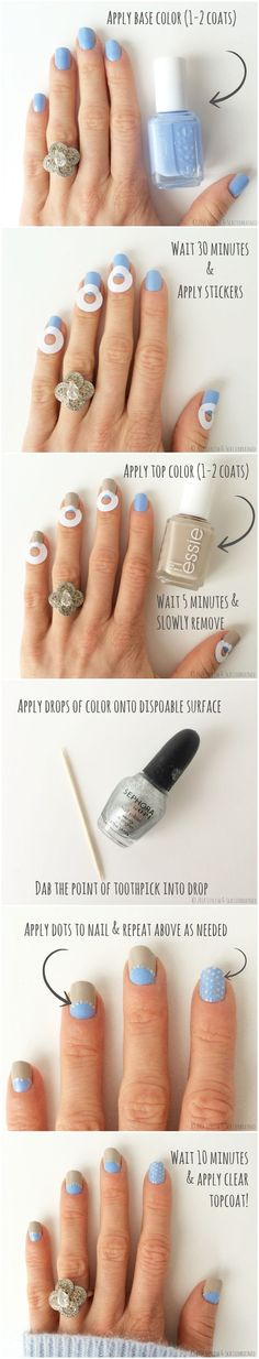6 Super Cute Nail Designs Tutorials - Page 6 of 6 - mesning