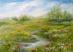 Wiosenna łąka - Maria Roszkowska - obraz olejny