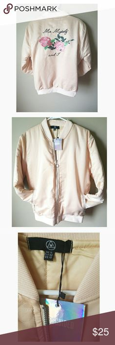 NWT Missguided Bomber Jacket ❤❤Soft pink, satin feel bomber jacket. Brand new with all tags still attached. Perfect for fall or even winter, its nice and cozy!! ❤❤ Missguided Jackets & Coats