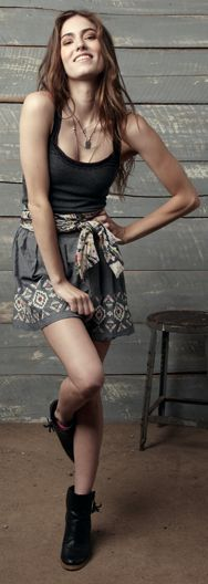 Love. Embroidered Chambray Skirt from American Eagle