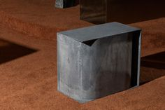 Christopher Stuart, Glitch 4 side table in galvanized steel. Photography by  Lauren Coleman