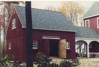 Country Carpenters upholds the traditional Post and Beam construction of New England Style Barns, Garden sheds and Country Style Carriage Houses. Exterior Colors, Interior And Exterior, Interior Design, Porch Styles, House Styles, Loft Boards, Roof Sheathing, Barn Kits, Barn Shop