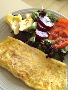 My Harcombe Diet Recipes: Ham and Cheese Omelette with Side Salad