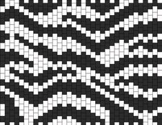 Zebra bead pattern...Randall would love this cuff