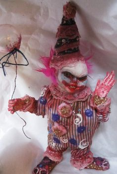 creepy clown fantasy gothic art doll - so creepy I almost don't want to pin this one!