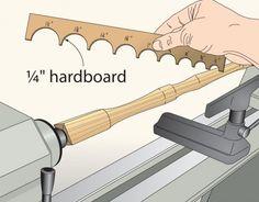 Ah! E se falando em madeira...: quadro de dicas: peças repetitivas no torno