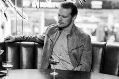 Hot Guy /Cold Drink Sam Heughan - Sam Heughan Outlander Interview