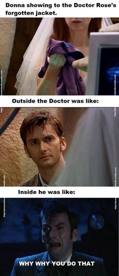 I did wonder about that. But then, I suppose, this *is* how anyone is when a sudden stranger inadvertently strikes one in the heart. More so with the Doctor.