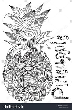 Image Result For Pineapple Coloring Page