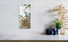 Wall View 001 Flying Bird Silhouette, Canvas Art, Canvas Prints, Heron, Canvas Material, Wall, Color, Bird Paintings, Photo Canvas Prints