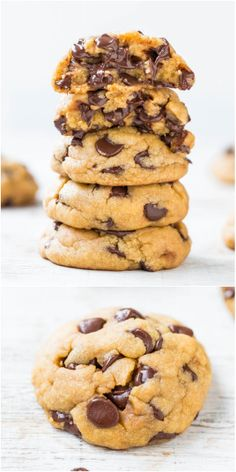 #Dessert / The Best Soft and Chewy Coconut Oil Chocolate Chip Cookies