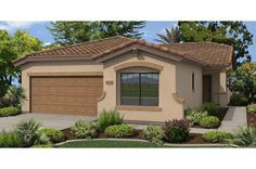 The Rorotonga Plan by Fulton Homes. The Paradise at Ironwood Crossing Community in Queen Creek, AZ. Three bedrooms, 2 baths, 2 car garage,1,661 square feet. Starting at $141,900.