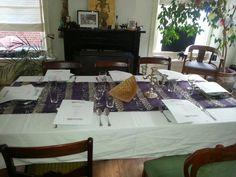 Alles staat al  klaar  voor een workshop  Indische  gerechten