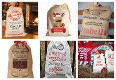 Santa's Sack DIY with free printable. DIY Santa's sack with a pillow cover and a pdf printable to iron on!