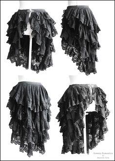 bustle skirt Somnia Romantica by Marjolein Turin by SomniaRomantica on DeviantArt Steampunk Rock, Steampunk Skirt, Steampunk Cosplay, Victorian Steampunk, Steampunk Clothing, Steampunk Fashion, Gothic Fashion, Look Fashion, Bustle Skirt