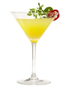 Hot and Dirty martini --with jalapenos!