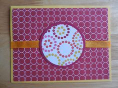 Wordless Yellow and Red Greeting Card - Handmade Greeting Card