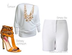 PLUS SIZE OUTFIT IDEAS: How To Accessorise All White