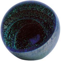 Glass Eye Studio celestial series Paperweight Full Moon 522F//W Light Base