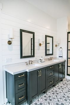 SMI Modern Farmhouse Master Bedroom and Bathroom - Sita Montgomery Interiors