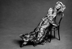 Kate Moss poses in long gown for Alberta Ferretii's fall 2016 campaign