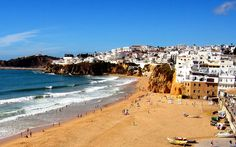 portugal | Portugal - Tavel Wallpapers Pictures - beach-in-albufeira-portugal