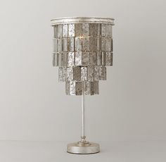 Josephine Antiqued Mirror Table Lamp