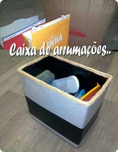 Maria de Ferro: Como fazer caixas de arrumação