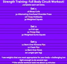 Full Body Circuit Workout (minimal equipment needed!)