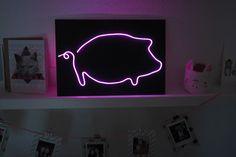 KuneCoco • DIY • Neonschild selbst gemacht • Schweine-Motiv