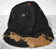 Cannonball Jackman's cap prior to conservation. Photo courtesy of Museum of African American History, Boston and Nantucket, MA, USA.