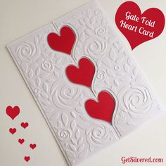 Gate Fold Heart Card with Free Cutting Files for Silhouette & SVG