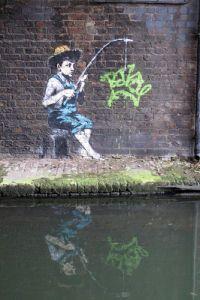 Banksy, camden lock on ArtStack #banksy #art
