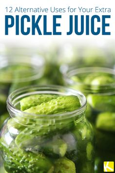 12 Alternative Uses for Your Extra Pickle Juice (Fitness Tips Jar) Pickle Juice Uses, Pickle Juice Benefits, Smoothie Benefits, Best Fast Food, Canning Pickles, Cooking Recipes, Healthy Recipes, Cooking Tips, Delicious Magazine