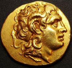 Lysimachos GOLD STATER. ALEXANDER THE GREAT. AND ATHENA.
