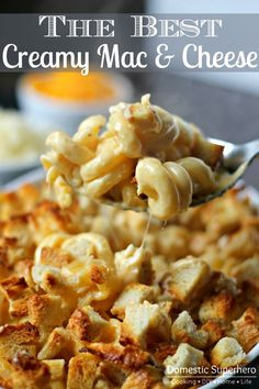 THE BEST EVER CREAMY MAC & CHEESE - 4 T unsalted butter plus more for casserole dish, 3 slices white bread, 2 3/4 C milk, 1/4 C all-purpose flour, 1 tsp coarse salt plus more for water, 1/8 tsp ground nutmeg, 1/8 tsp freshly ground black pepper, 1/8 tsp cayenne pepper, 2 1/4 C (about 9 oz ) sharp white cheddar cheese, 1 C (about 4 oz) grated Gruyère or 2/3 C grated Pecorino Romano cheese, 1/2 lb elbow macaroni or other spiral noodle