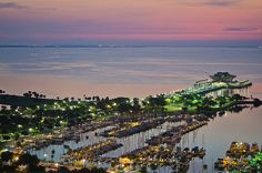 Sunrise over the Pier and #StPete Yacht Club by Fifth World Art, via Flickr