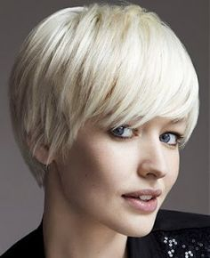 short blonde pixie with long bangs | best stuff
